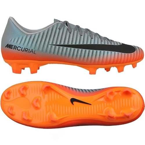 Chuteira Nike Mercurial Victory Vi Cr7 Fg Campo Prata