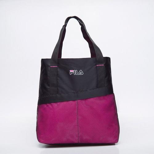 Bolsa Fila Mesh Preto/rosa