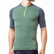 Camiseta Ciclismo Fila Race Masculina - Verde e Cinza