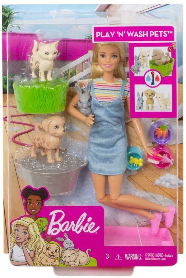 Barbie Banho de Cachorrinhos FXH11 Mattel