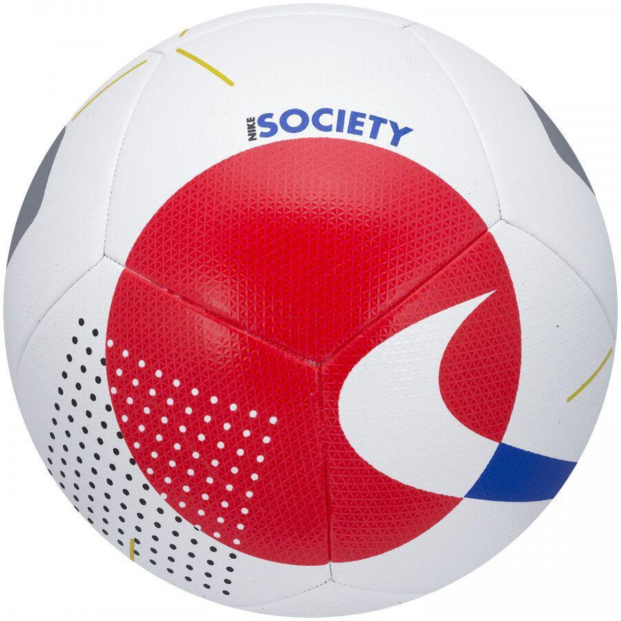 Bola Futebol Nike Society HO19 Branca e Vermelho