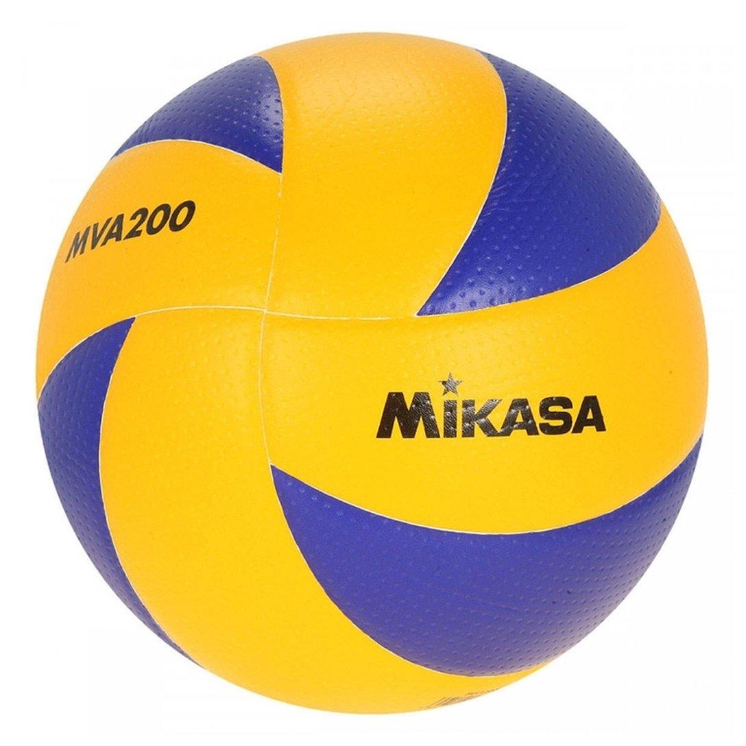 Bola de Volei MVA200 Mikasa - Amarelo+Azul