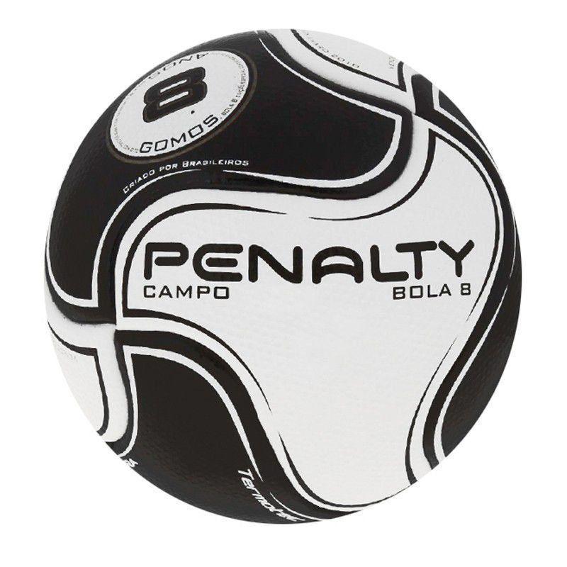 Bola Futebol Campo Penalty 8 S11 R2 6 - Branco+Preto