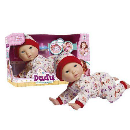 Boneca Dudu o Bebê que Engatinha Baby Brink