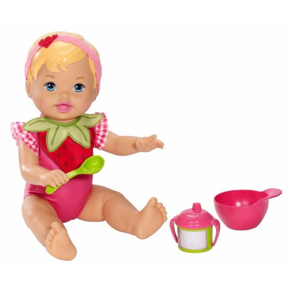 Boneca Little Mommy Momentos do Bebê dar de Comer Moranguinho - X4588