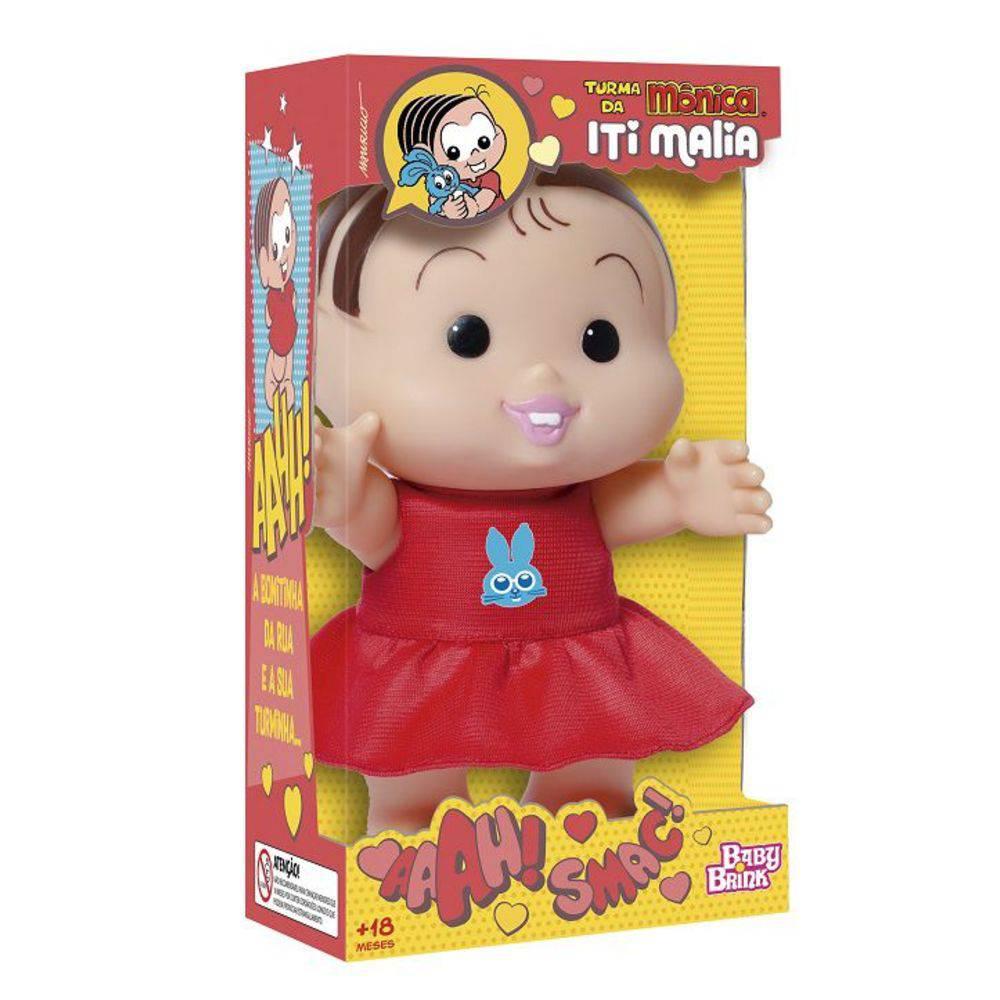 Boneca Turma da Mônica Iti Malia Mônica 23 cm Baby Brink
