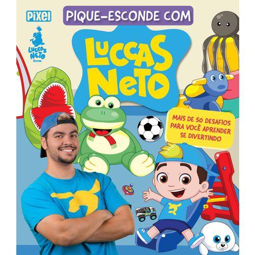 Boneco Luccas Neto 14 Frases Rosita com Livro Atividades Pique Esconde
