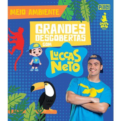 Boneco Luccas Neto Rosita com Coleção de 4 Livros Grandes Descobertas