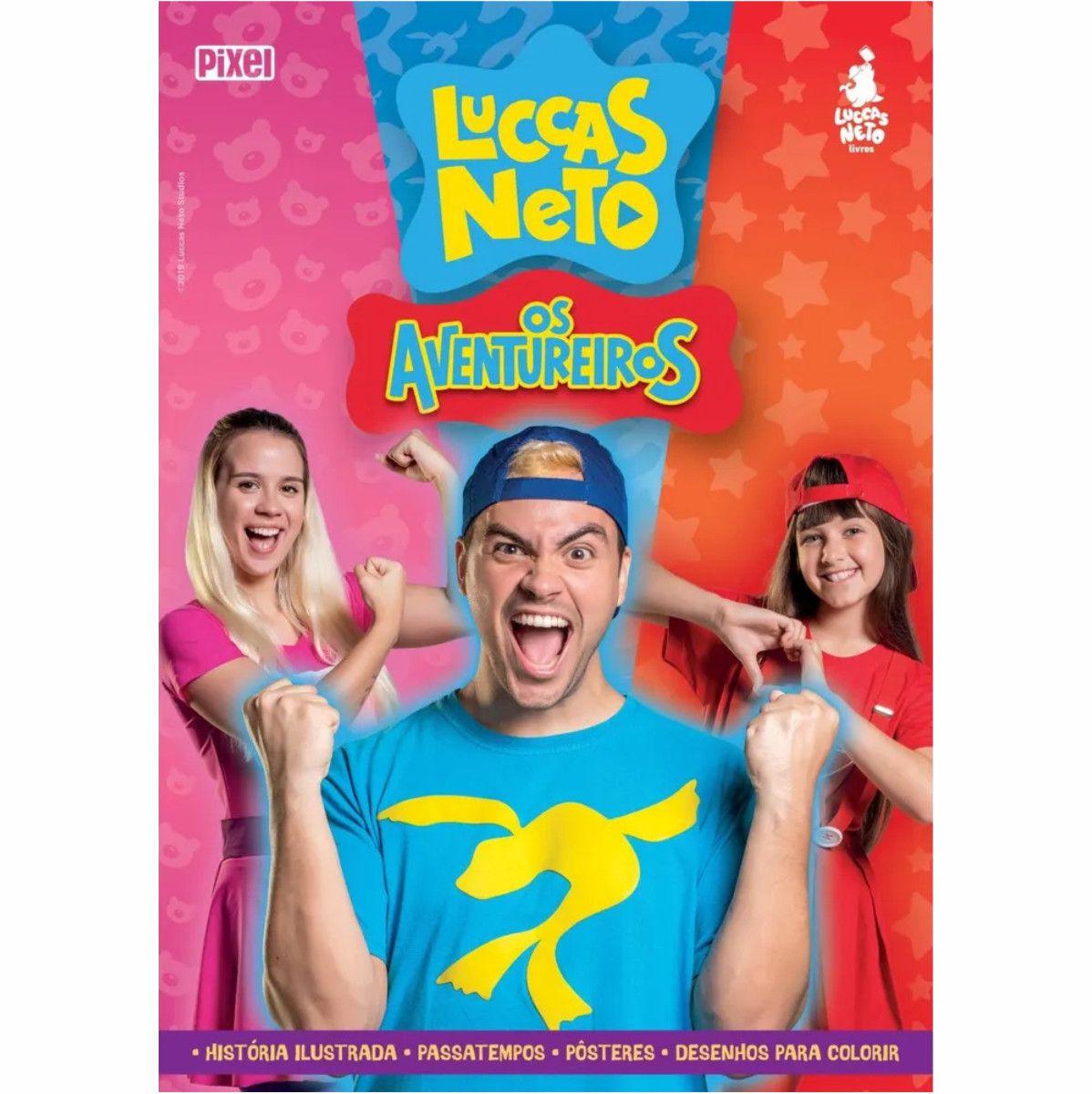 Boneco Luccas Neto Rosita com Livroes Aventureiros e Brincando com Luccas