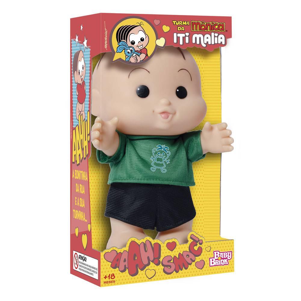 Boneco Turma da Mônica Iti Malia Cebolinha 23 cm Baby Brink