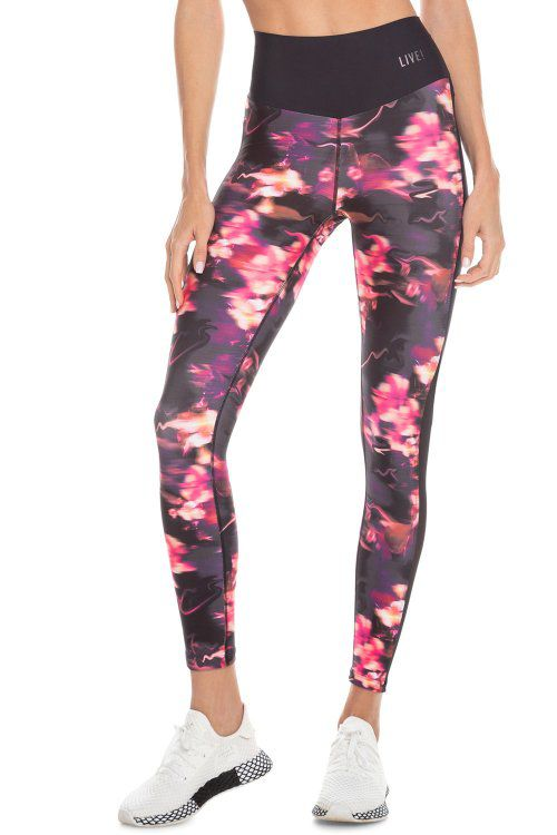 Calça Legging Fuso Live Reaction Fire Flower