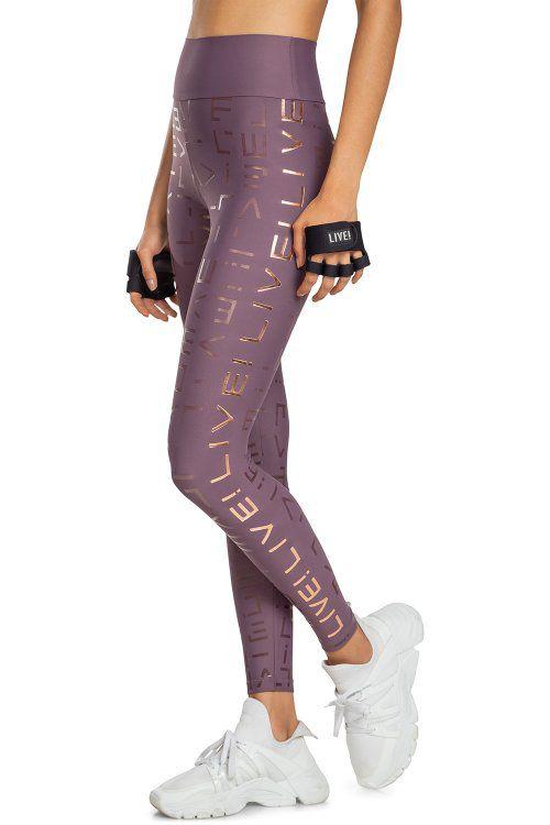 Calça Legging Live Icon Lux Rose