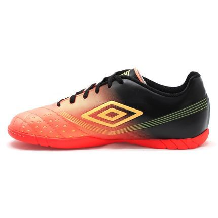Chuteira Indoor Umbro Fifty Preto Coral