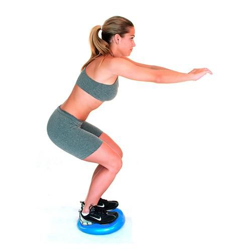 Disco De Equilíbrio Flexível Azul Com Bomba De Ar - Acte Sports