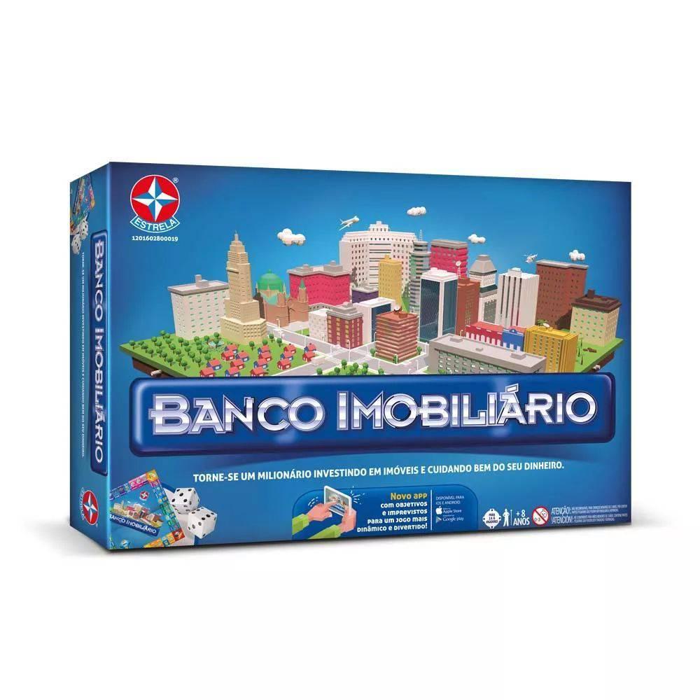Jogo Banco Imobiliário Tabuleiro com Aplicativo Estrela