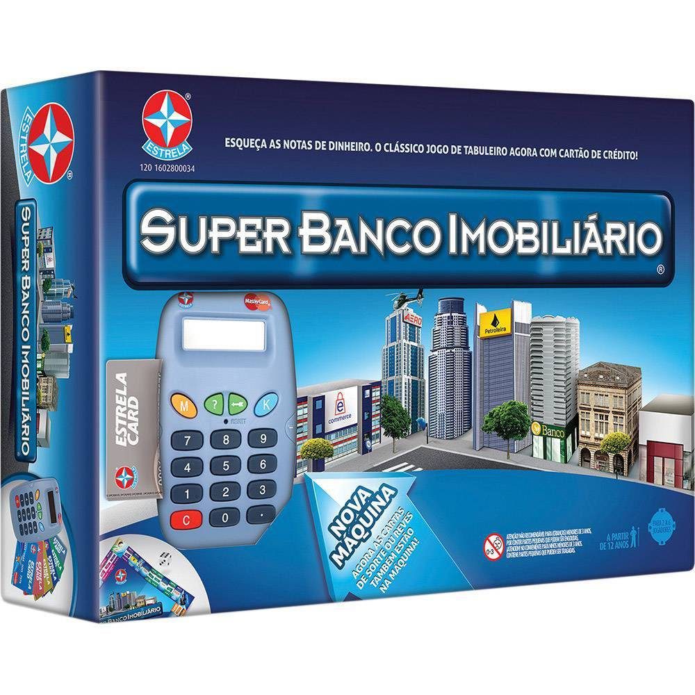 Jogo Super Banco Imobiliario Tabuleiro com Cartao Estrela