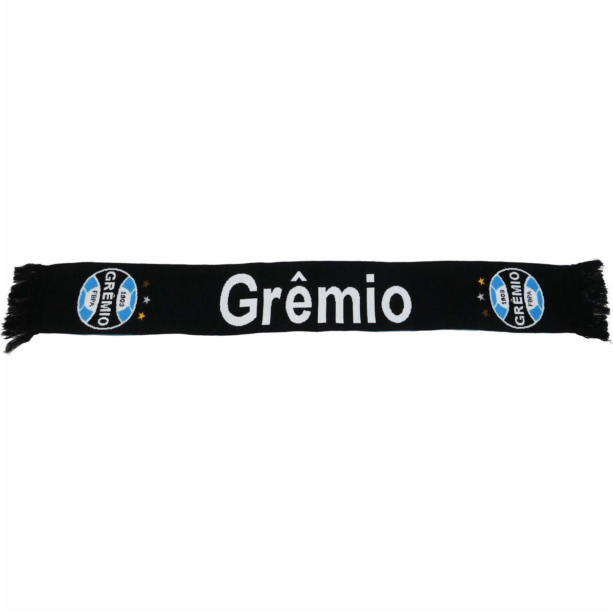 Kit  Cachecol com Gorro Gremio Reversivel Licenciado Oldoni G172 com Brinde