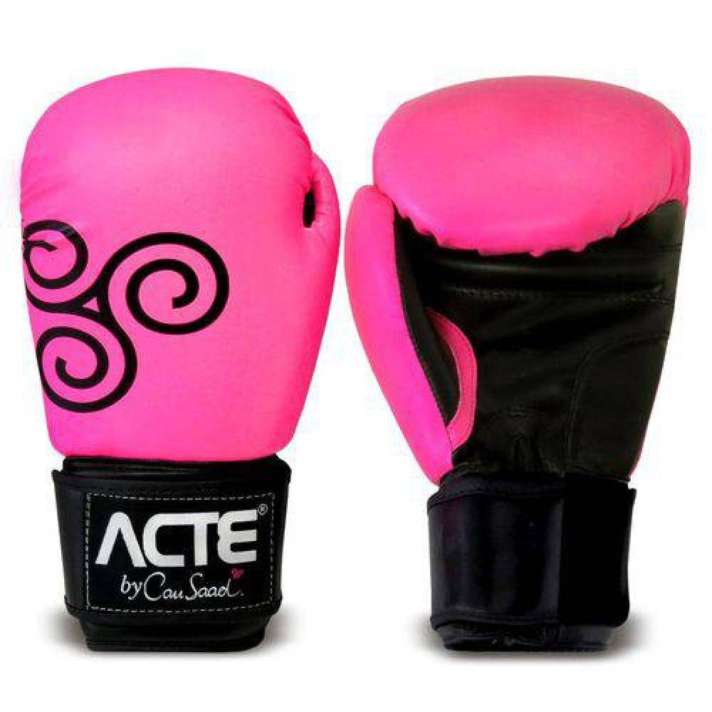 Luvas de Boxe Rosa By Cau Saad Acte Sports