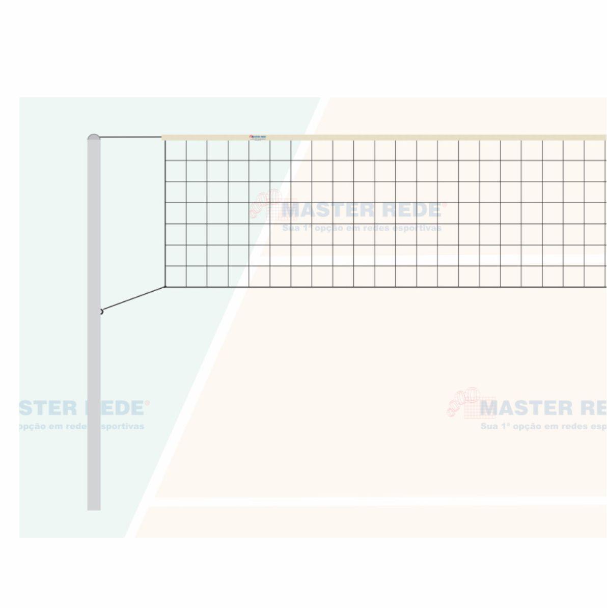 Rede de Volei 01 Faixa Sintetica Master Rede VS-1