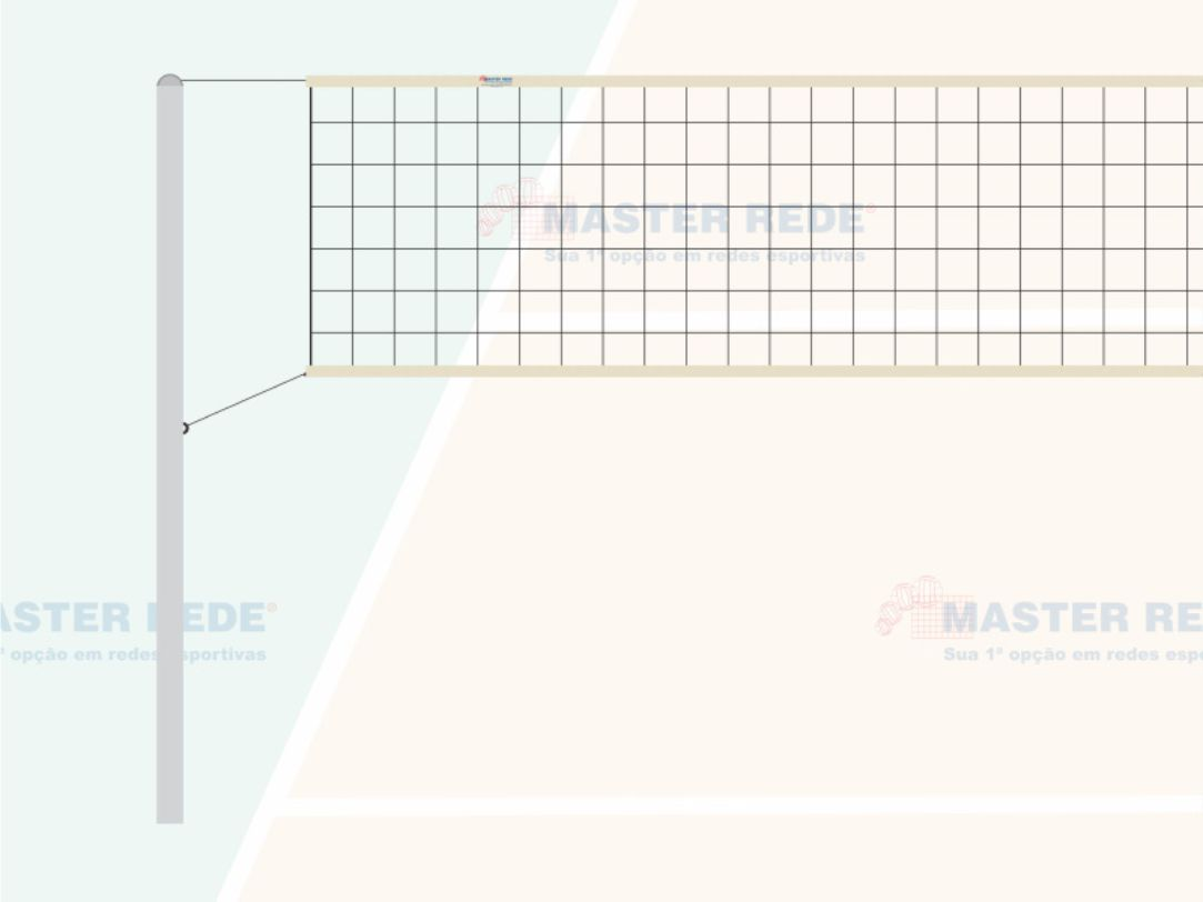 Rede de Volei 2 Faixas Sinteticas Master Rede VS-2