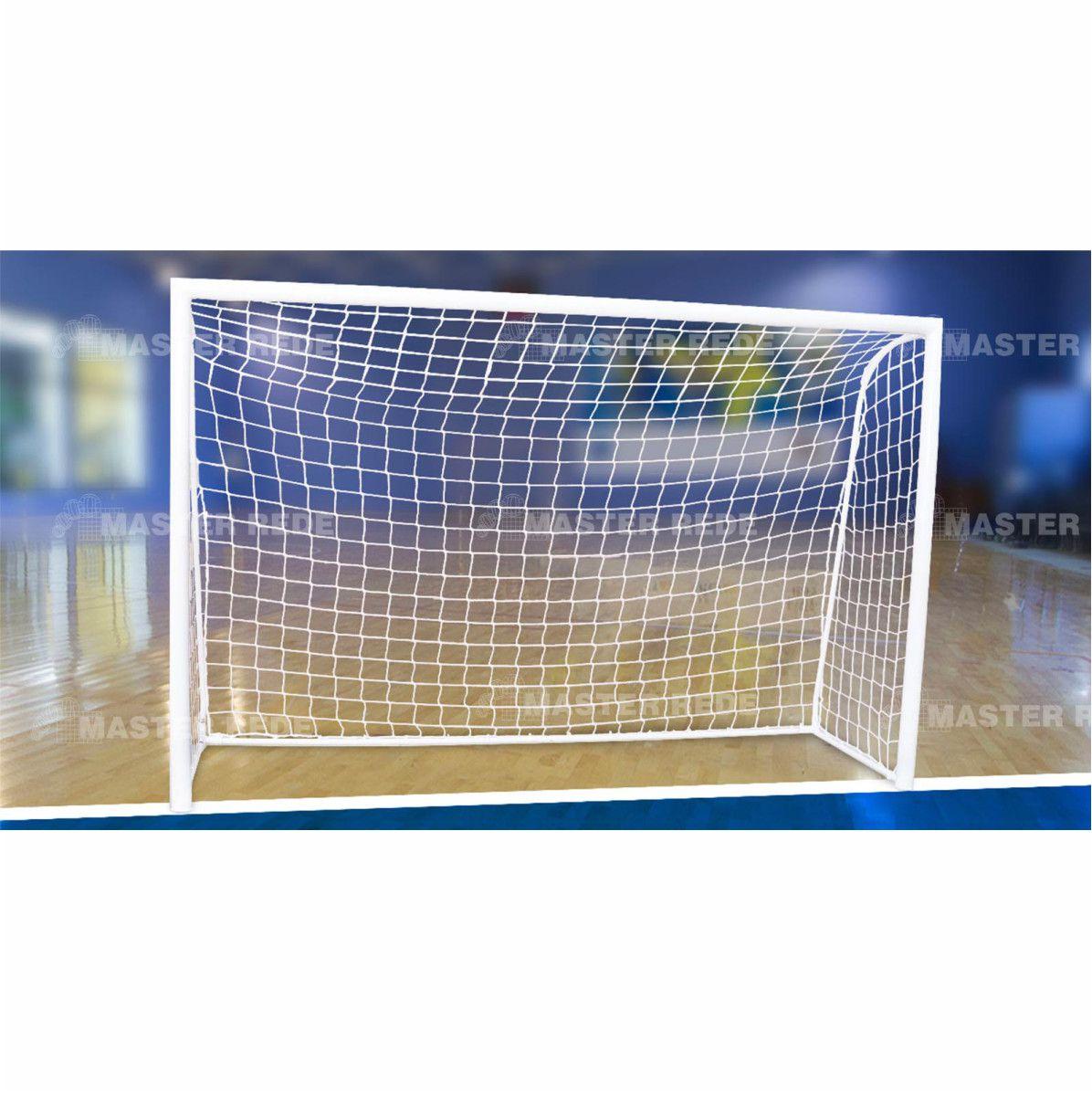 Rede Futebol Salao Futsal Master Rede Fio 4mm Seda FS-L4