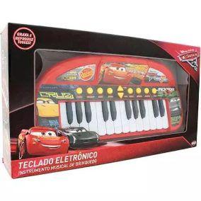 Teclado Piano Musical Eletrônico Infantil Carros 3 Disney Toyng Ref 30590