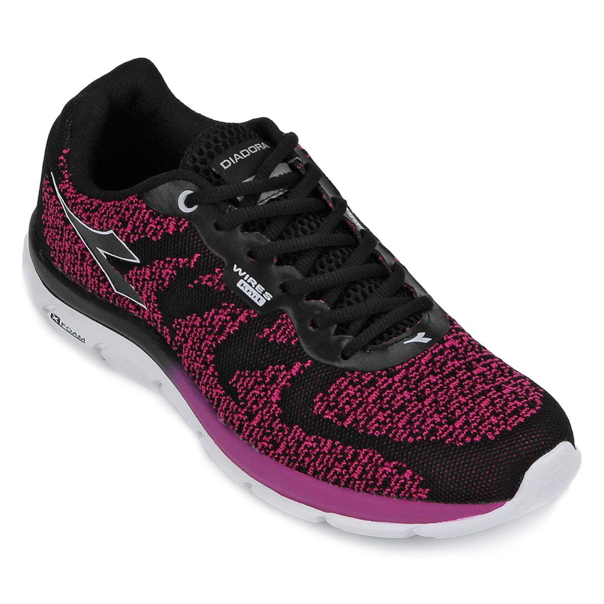 Tenis Diadora Flock Knit Corrida Pink