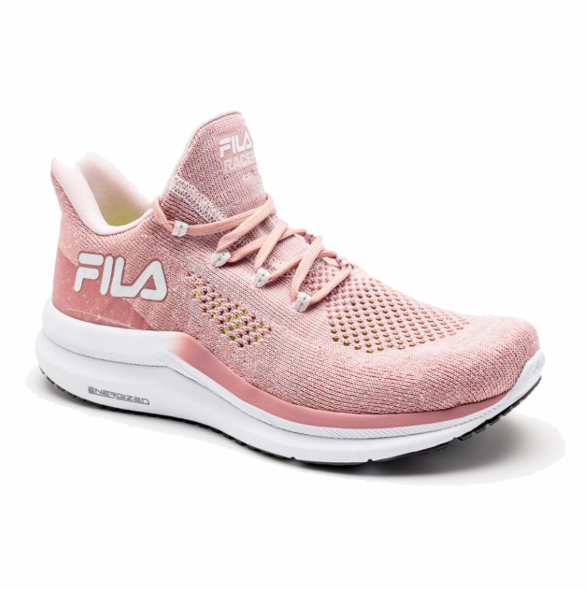 Tenis Fila Racer Knit Energized Feminino Running Training Rose