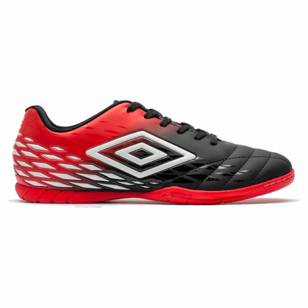 Tenis Umbro Fifty Ii 2 Chuteira Futsal Preto Vermelho