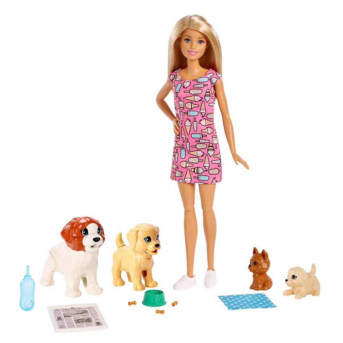 Treinadora de Cachorrinhos Barbie - Mattel FXH08