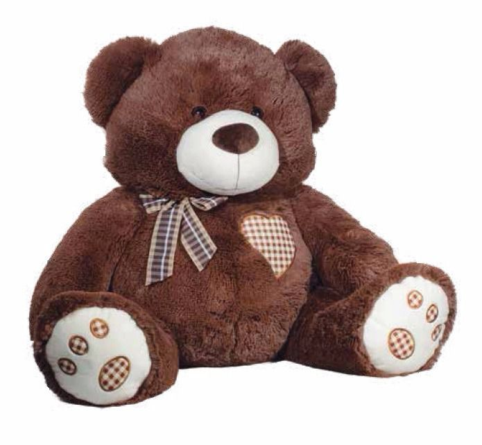 Urso Grande Pelúcia Big Love 54cm Rosita