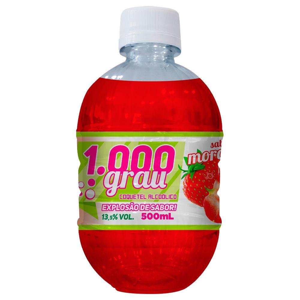 1000 GRAU COQUETEL ALCOÓLICO 500ML MORANGO