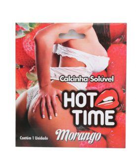 CALCINHA COMESTÍVEL HOT TIME MORANGO