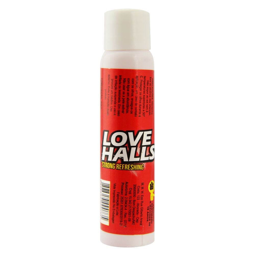LOVE HALLS GEL BEIJÁVEL RESFRESCANTE MORANGO 18ML