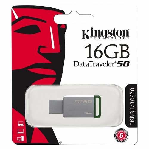 Pendrives Kingston Datatraveler Usb 3.1 16gb Dt50