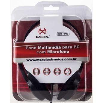 Headset Mox Mo-hp10 Multimídia Para Pc Preto