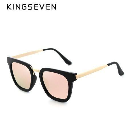 Óculos De Sol Feminino Polarizado Kingseven Lente Plana