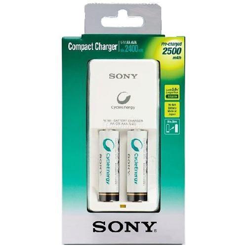 Carregador De Pilhas Recarregáveis Sony 34hw2gn 2 Pilhas Aa