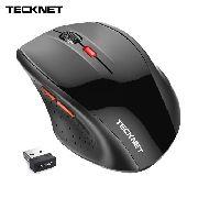 Mouse Sem Fio Tecknet 2.4 Ghz Óptico Usb 6 Botões 2400 Dpi