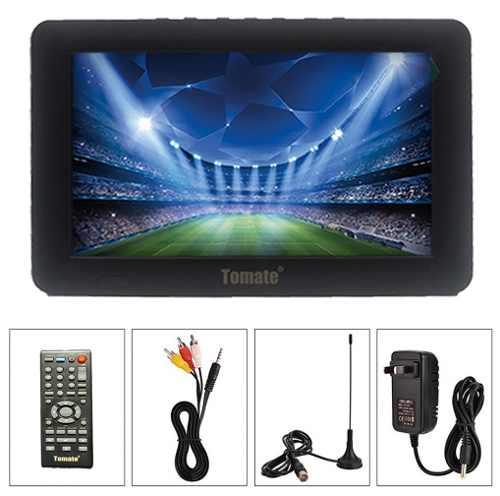 Tv Digital Portatil 7'' Tomate Usb Sd E Bateria Recarregável