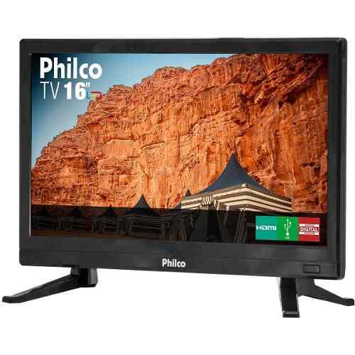Tv Led 16 Philco Hd Ptv16s86d Conversor 2 Hdmi 1 Usb 60hz