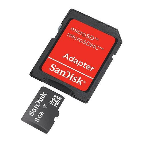 Cartão De Memória Micro Sd De 8gb Sandisk 008g-b35a - Preto