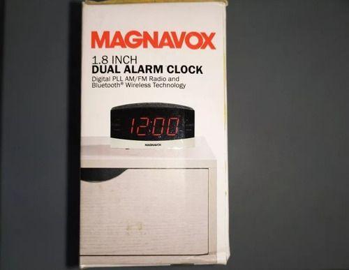 Relógio Rádio Despertador Magnavox 2 Alarmes Com Bluetooth
