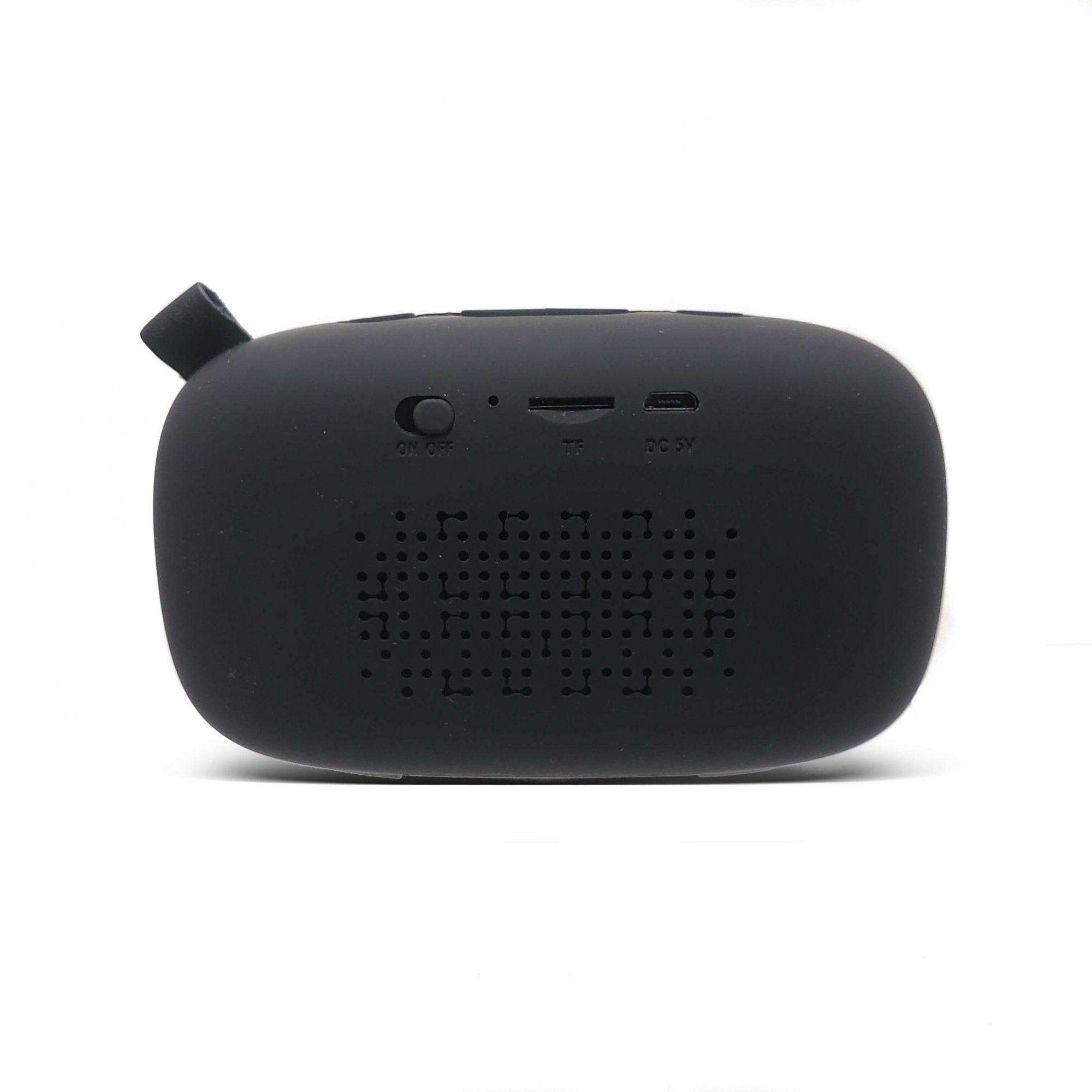 Caixa De Som Bluetooth Com Microfone FM 6Wrms Kaidi KD811 Preta
