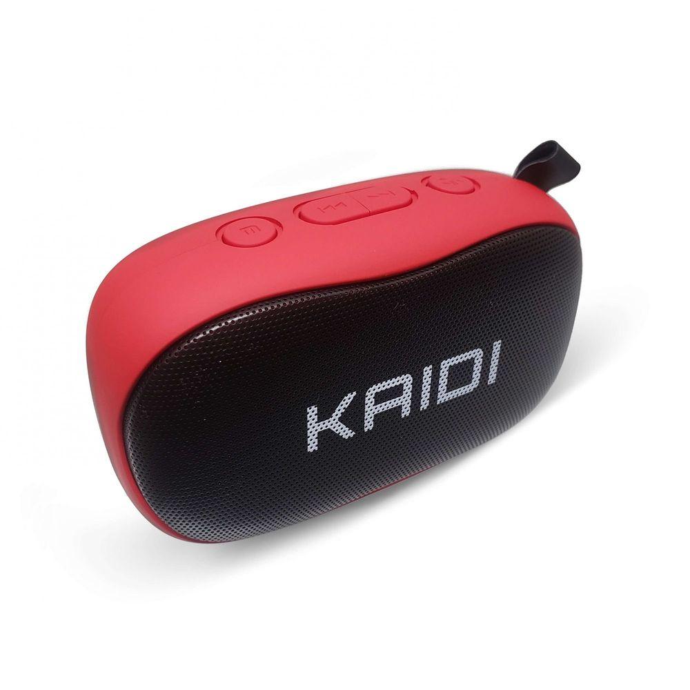 Caixa De Som Bluetooth Com Microfone FM 6Wrms Kaidi KD811 Vermelha