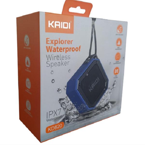 Caixa de Som Bluetooth Explorer KD820 Kaidi a Prova d'água