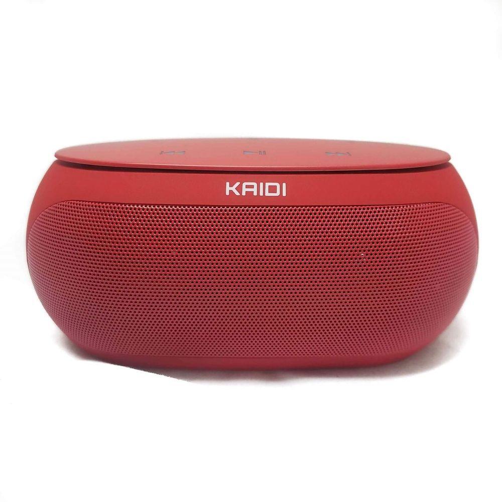 Caixa De Som Bluetooth Kaidi Kd813 Vermelho