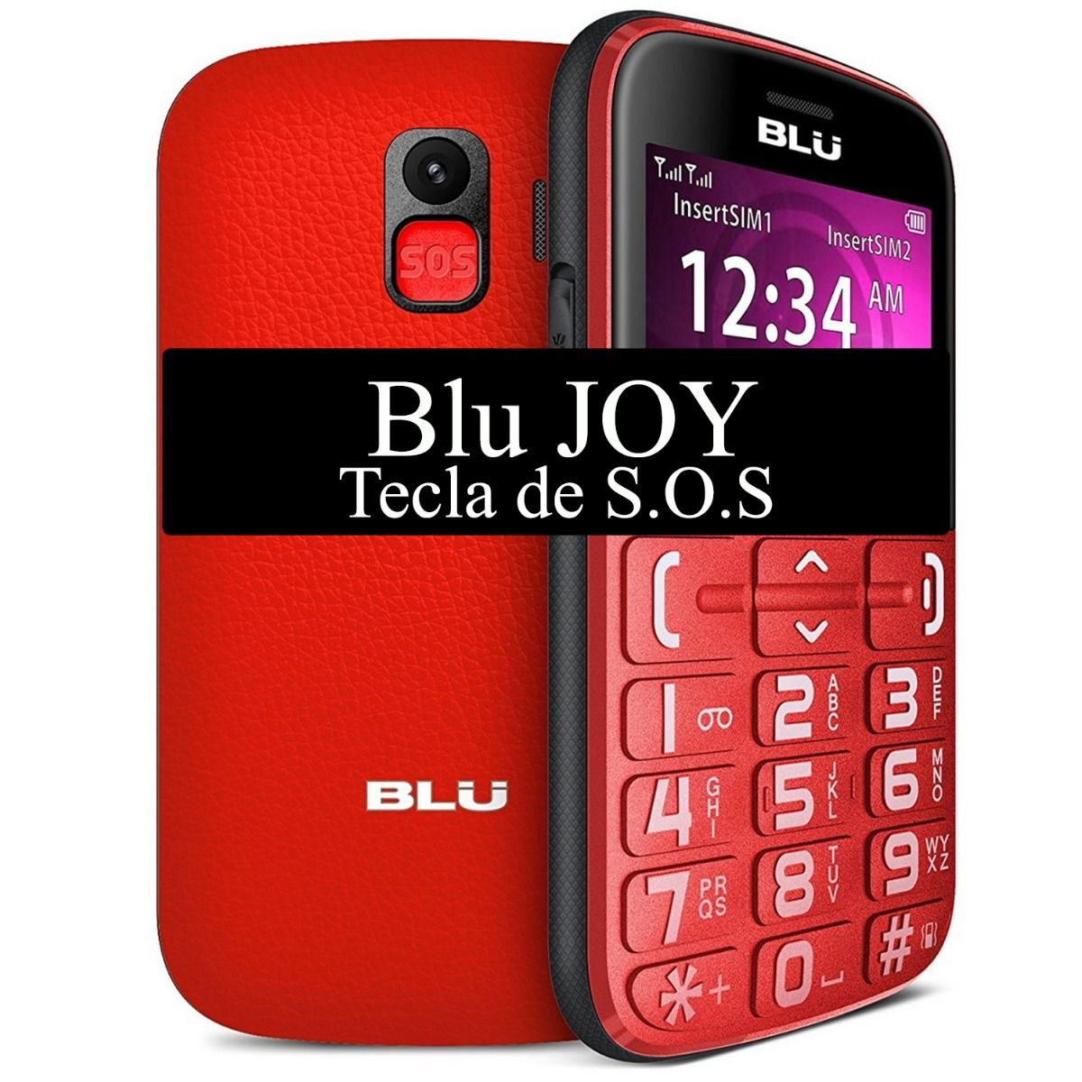 Celular Blu Joy 2.4 Dual Sim 2.4'' Câmera Vga Ideal P/ Idoso