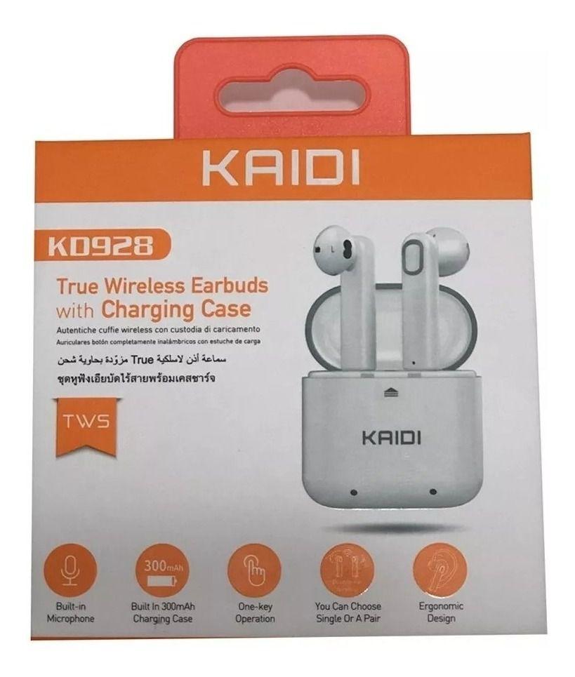 Fone Bluetooth Kaidi EarBuds Kd-928 Branco