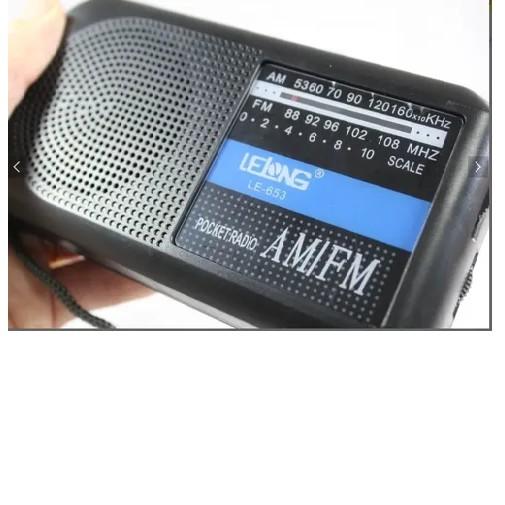Radio Portátil Analógico Am/fm Lelong LE-653